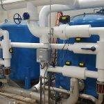 Blue water softener system